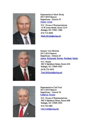 thumbnail of North Carolina Southern Piedmont Area State House and Senate Reps