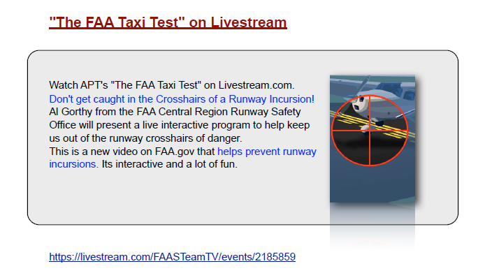 FAA Flight Safety Test