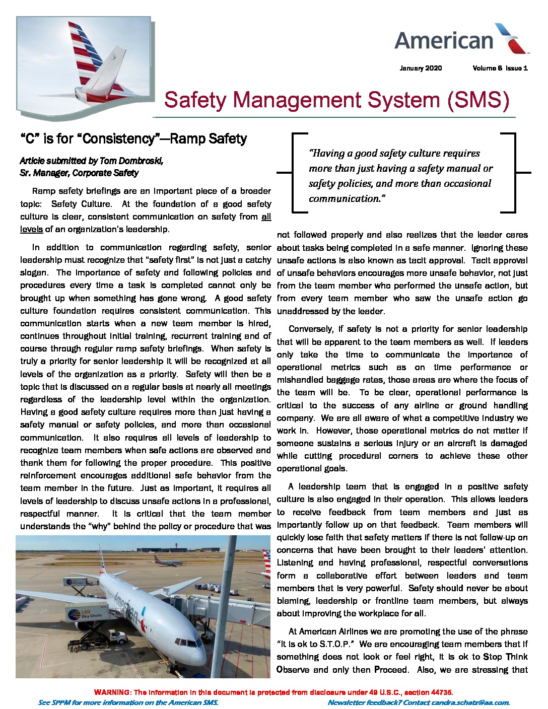 thumbnail of SMS Newsletter Ramp Safety Page 1